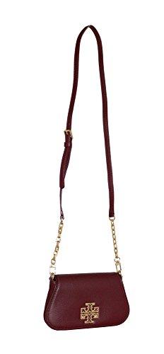 Hudson Leather Britten Bay Red Tory Burch Crossbody body Agate Cross Mini Bag An7URq
