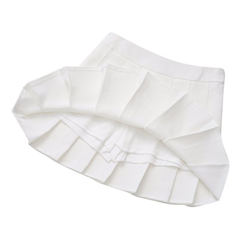 Mince Plisses Blanc Robe Sexy Jupes Haute Mini Taille Fille Mxssi Femmes qwXSWHvzqT