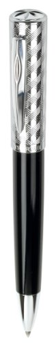 Waterford Eclipse Black & Diamond Cut Chrome Ballpoint Pen (WF/542/BKC) by Waterford