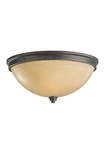 Sea Gull Lighting 75520EN3-845 Two Light Ceiling Flush Mount Flemish Bronze
