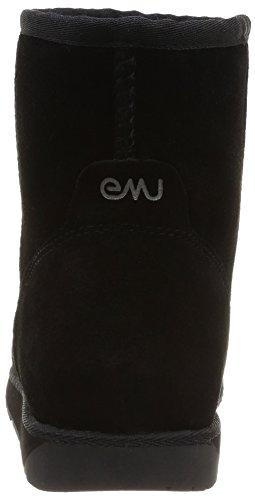 Emu Donne Mini Stivali Mandrino Neri dd7q1arUw