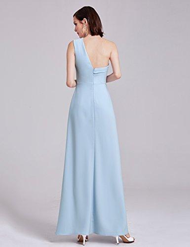 Mujer Hielo Pretty Noche un de Novia Hombro de Largos Solo 07179 para Ever Vestidos Elegante Azul 7dqwdCZ