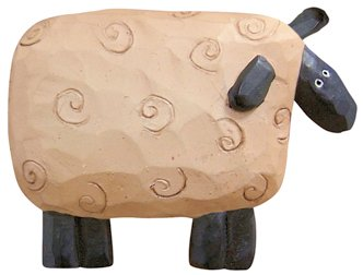 Resin Sheep Pin Country Primitive Décor Jewelry Clothing Accessory