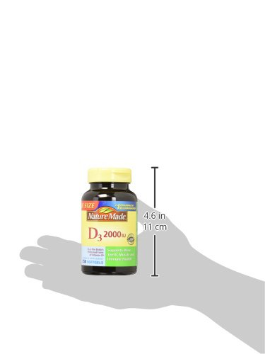 Nature Made Vitamin D3 2000 IU Softgels, 250 Ct