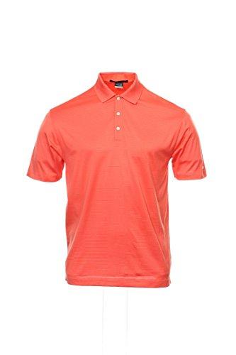 on by Nike Orange Striped Polo Shirt Golf, Size Medium ()