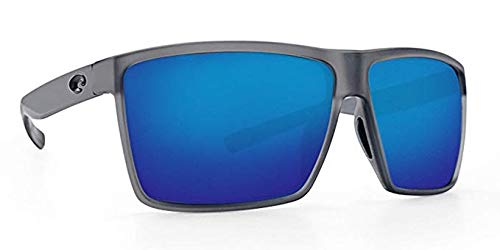 Costa Del Mar Costa Del Mar RIN156OBMP Rincon Blue Mirror 580P Matte Smoke Crystal Frame Rincon, Matte Smoke Crystal Frame, One Size, Blue Mirror 580P by Costa Del Mar