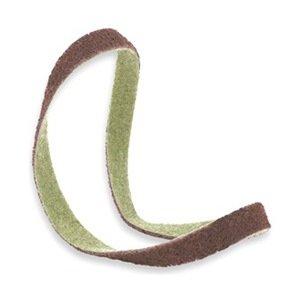 Sanding Belt, 3/4Wx18 L, NonWoven, AO, Med