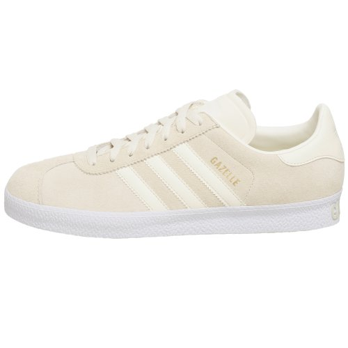 Amazon.com | adidas Originals Mens Gazelle 2 Sneaker, Ecru/Ecru/Legacy, 7.5 M | Fashion Sneakers
