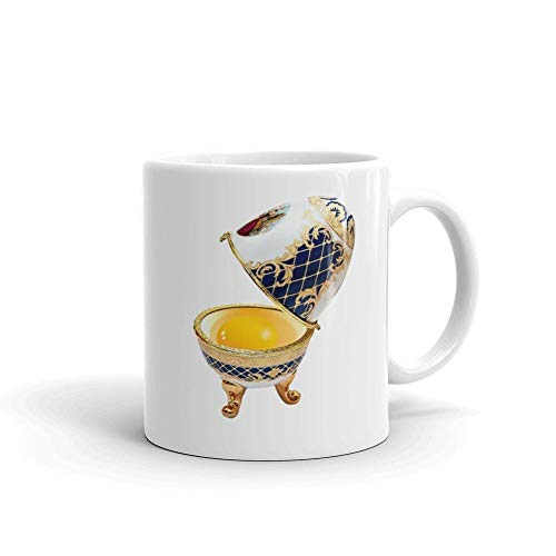 Faberge egg 11oz White Ceramic Chicken Lover Tea Coffee for sale  Delivered anywhere in USA