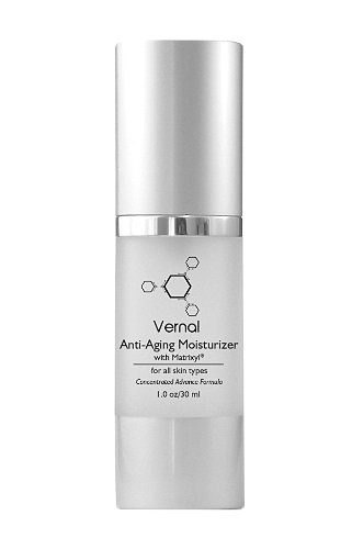 Vernal Anti Aging Moisturizer - All in One with Tetrapeptides & Vitamin C, Best Anti Wrinkle Cream, Daily Moisturizer - 1.0 oz