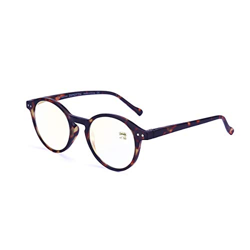 (ZENOTTIC Blue Light Blocking Reading Glasses Anti Glare Lens Lightweight Frame Eyeglasses for Men and Women (Tortoise,)