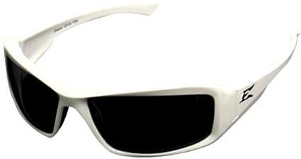 4001990 borde gafas Brazeau blanco marco polarizadas humo lente