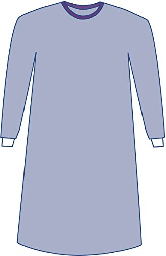 Medline DYNJP2702 Sterile Non-Reinforced Aurora Surgical Gowns with Set-In Sleeves, X-Large, Blue (Pack of 30)