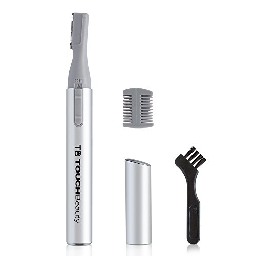 TOUCHBeauty Portable Eyebrow Trimmer for Women Mini Body Shaver Silver TB-815