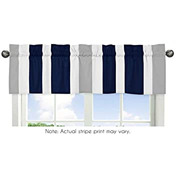 gray window valance unique sweet jojo designs navy blue gray and white window treatment valance for stripes bedding collection amazoncom