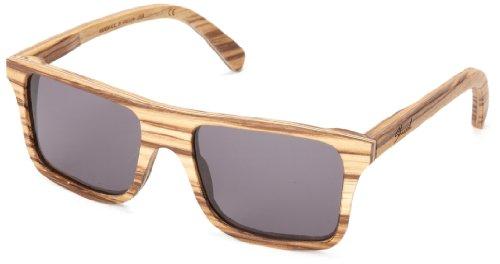 Shwood Govy WOGZG Rectangular Sunglasses,Zebrawood,53 - Shwood Portland