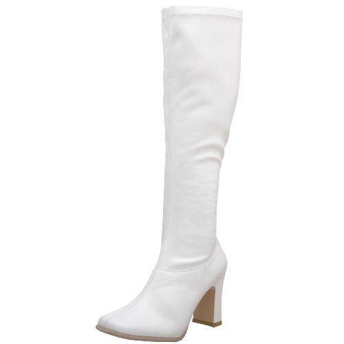 Funtasma by Pleaser Women's Kiki-350 Boot White (Wht Str Pu) 2L7ZnncM