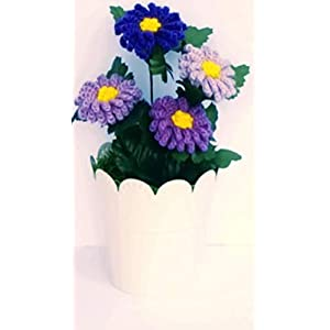Decorative Aster Flowers Gift For Home Decor, Desk Decorations, Housewarming Gift, Baby Room Decor Nursing Home or Hospice Room Decor, Anniversary or Retirement Gift 49
