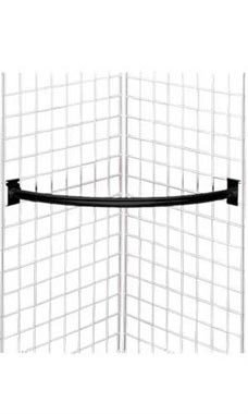 1pc, Quarter Circle Black Hangrail for Wire Grid ()