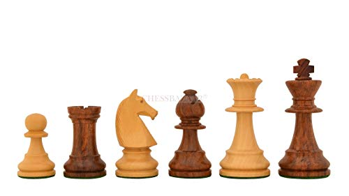 Reproduced 90s French Chavet Championship Tournament Chess Set V2.0 in Sheesham / Box Wood - 3.6