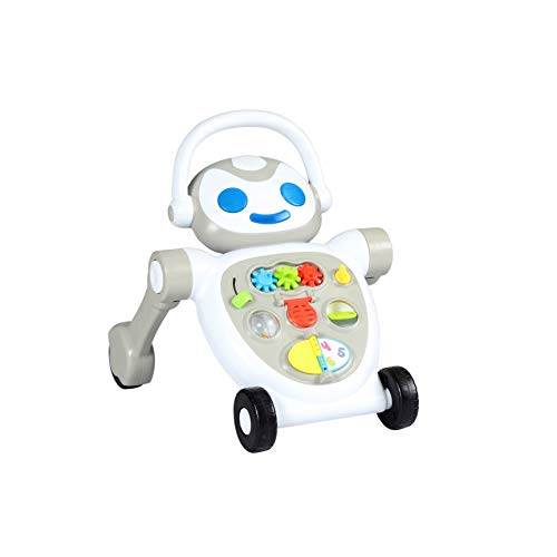 Spuddies Robot Portable Push Walker, Grey