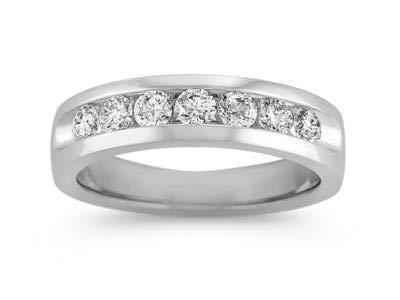 Platin Ehering Verlobungsring aus massivem Platin, 0,35 Karat Rundschliff, natürlicher Diamant 950