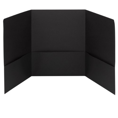 Smead Tri-Fold Pocket Folders, Holds up to 150 Sheets, Letter Size, Black, 20 per Box (87812)