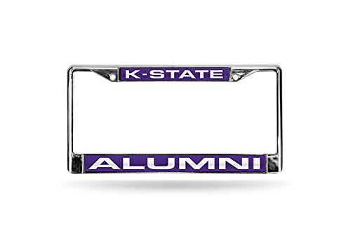 Chrome 6 x 12.25 6 x 12.25 Pro-Motion Distributing Direct FCLA310201 Rico Industries NCAA Kansas State Wildcats Laser Cut Inlaid Standard License Plate Frame
