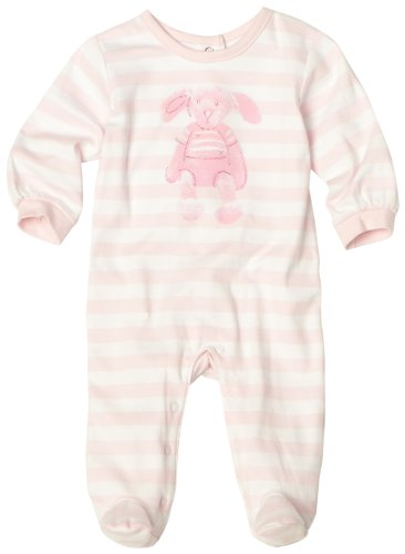 ABSORBA Baby-girls Newborn Bunny Yarn Dyed Footie