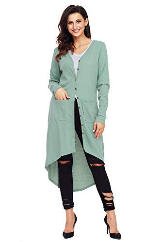 Giacca Colori Autunno Cardigan Solidi Moda Casual Grazioso Manica Lunga Baggy Cappotto Irregular Primaverile Outerwear Gr Donna Eleganti Asimmetrica Di xangwRB4
