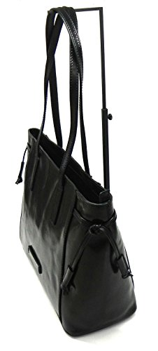 Donna Passpartout sac 36 Nero tout fourre The cm cuir goldfarben Bridge w6BxZ