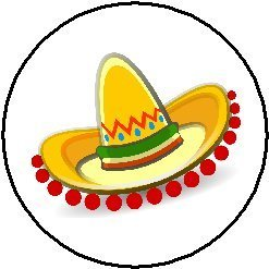 mexican sombrero cartoon 1 25 magnet cute mexico fiesta amazon rh amazon co uk sombrero mexicano cartoon mouse sombrero cartoon