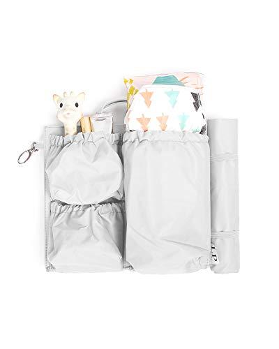 ToteSavvy Mini - Diaper Bag Organizer (Soft Grey, 9.5