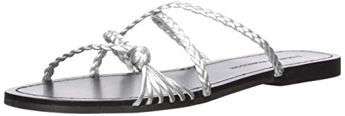 (Sigerson Morrison Women's Brock Sandal, Silver, 38.5 M EU (8.5 US))