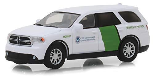 (Greenlight 1/64 US Customs & Border Protection Border Patrol 2018 Dodge Durango Police SUV)