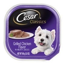 6 Individual Trays of CESAR Canine Cuisine Wet Dog Food Grilled Chicken Flavor, 3.5 oz.ea - Grilled Chicken Flavor