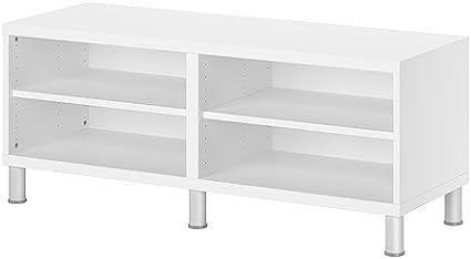 IKEA BESTA - Banco con patas, blanco - 120x40x48 cm: Amazon ...