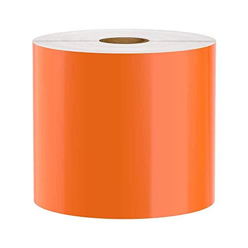 Premium Vinyl Label Tape for DuraLabel, LabelTac, SafetyPro and Others, Orange, 4