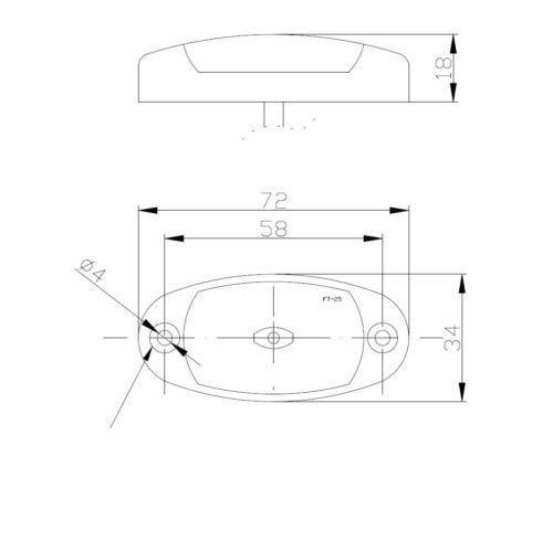 Frontmarkierungleuchte Begrenzungsleuchte Umrissleuchte LED Wei/ß Anh/änger LKW Wohnwagen Nutzfahrzeuge Trailer
