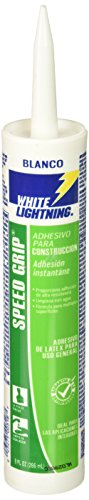 (White Lightning W70100010 Speed Grip Construction Adhesive, White, 9 OZ)