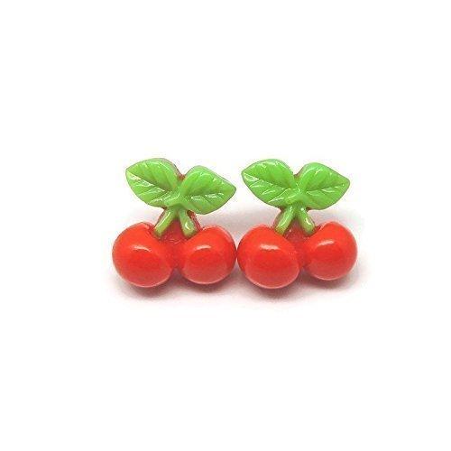 cherry-earrings-hypoallergenic-plastic-post-studs-for-metal-sensitive-ears
