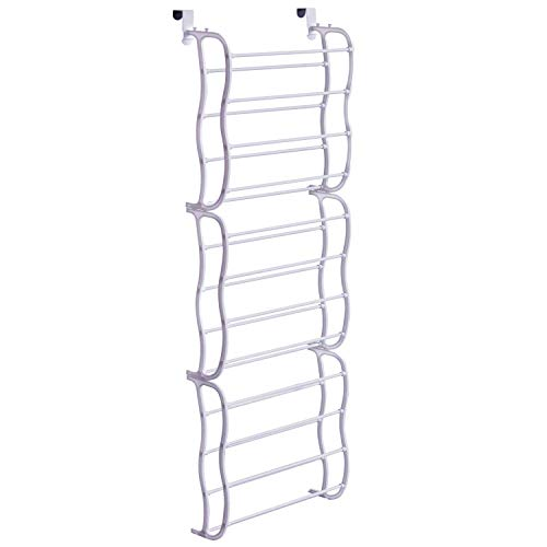 Futurebatt Over The Door Shoe Rack Holder - 36 Pairs - Storage Shoe Organizer - White