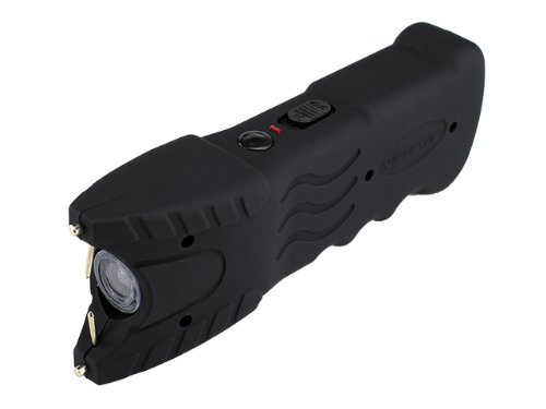 VIPERTEK VTS-979 - 10 Billion Stun Gun - Rechargeable with Safety Disable Pin LED Flashlight, Black by VIPERTEK