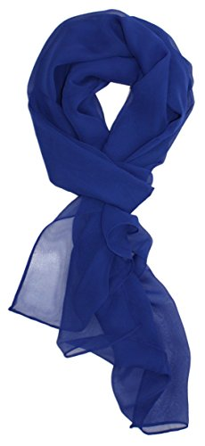 Ted and Jack - Solid Silk Lightweight Accent Scarf (Cobalt Blue) ()