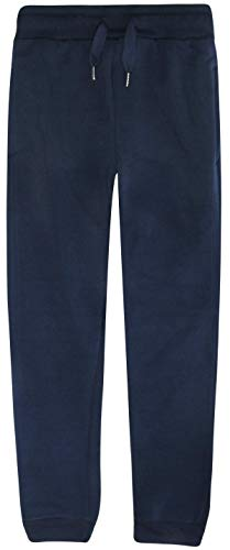 RANGE Boys Basic Solid Fleece Jogger Pants with Pockets, Navy, Size X-Large / 18' (Long Polyester 18')