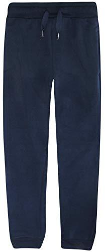 RANGE Boys Basic Solid Fleece Jogger Active Pants with Pockets, Navy, Size Medium / 10-12' ()