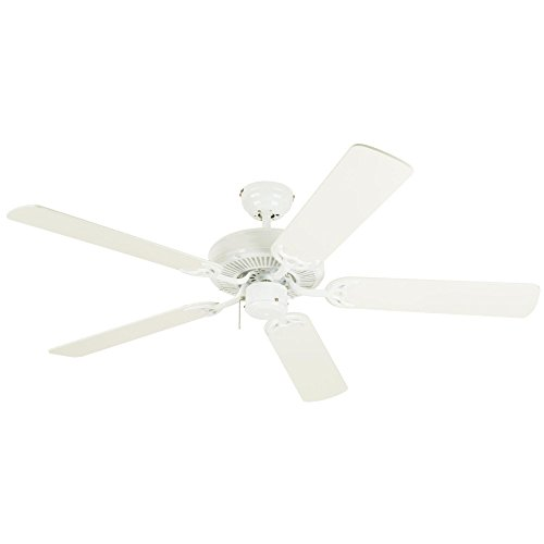 Westinghouse 7802400 Contractor s Choice 52-Inch Five-Blade Indoor Ceiling Fan, White with White Blades