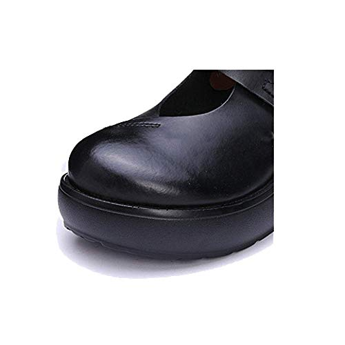 Black Décontracté en Chaussures Mesdames Portable Branché Confortable Cuir ZPEDY Rétro xp1zUww