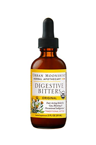 - Urban Moonshine Original Digestive Bitters | Traditional Organic Herbal Supplement | Fast-Acting Relief for Gas, Bloating & Occasional Indigestion | 2 FL OZ (Pack of 1)