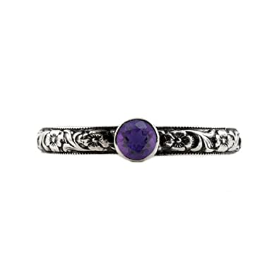 2e53c52f7 Handmade Paisley Floral Amethyst Engagement Ring, Sterling Silver ...